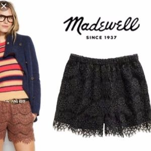Madewell Black Lace Shorts, Size XS